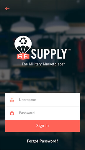 App development project - Resupply - phone mockup