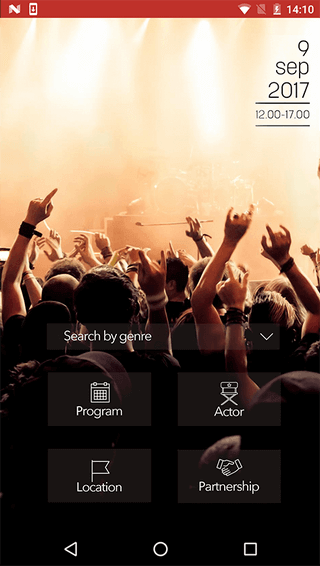 App development project - Solutions for event organizers - planner banner slide